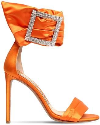 Alexandre Vauthier 100mm Yasmine Embellished Satin Sandals