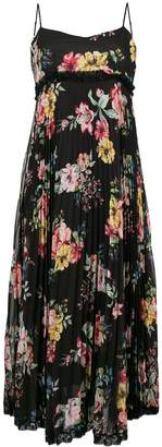 Twin-Set pleated floral dress
