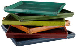 Colorful Wooden Tray - New!