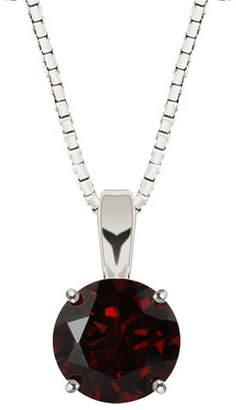 FINE JEWELRY Genuine Garnet Sterling Silver Pendant Necklace