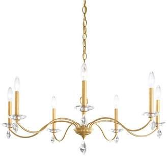 Schonbek Modique 7-Light Chandelier in Heirloom Gold With Clear Heritage Crystal