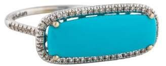 Suzanne Kalan 18K Turquoise & Diamond Ring