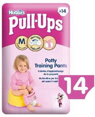 Huggies Medium Pull-Ups for Girls 11-18kg 14 per pack