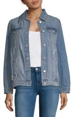 Blank NYC Denim Star Studded Jacket