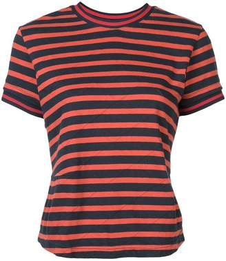 Derek Lam 10 Crosby Striped Pointelle T-Shirt