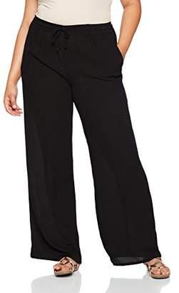 Ulla Popken Women's Weite Viskose Hose K-Länge Wide Leg Trousers,(Manufacturer Size: 29/30)