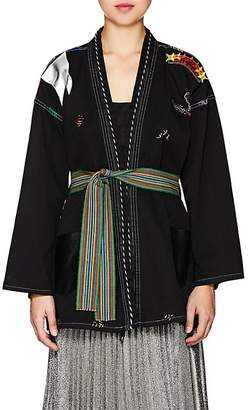 MONOKI Women's La Flamme Cotton Belted Kimono