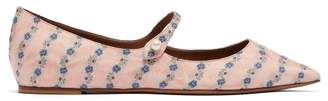 Tabitha Simmons Hermione Floral Jacquard Mary Jane Flats - Womens - Light Pink