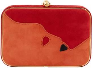 Shiatzy Chen Red Suede Clutch Bag