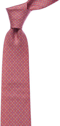 Salvatore Ferragamo Pink Gancio Silk Tie