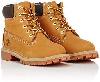 "Timberland ""6-Inch"" Nubuck Boots (Youth) $95 thestylecure.com"