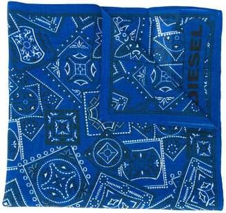 Diesel paisley print scarf