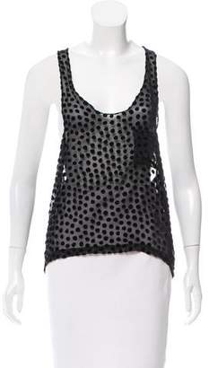 Alexander Wang Polka Dot Sleeveless Top