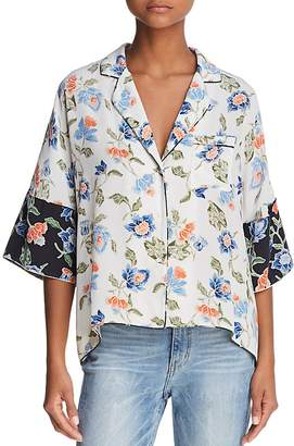 Joie Desmonda Silk Pajama-Style Top