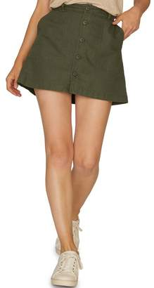 Sanctuary Venture Surplus Button Front Mini Skirt (Regular & Petite)