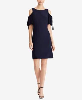 American Living Cold-Shoulder Fit & Flare Dress
