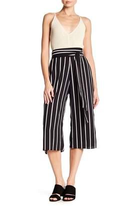 WEST KEI Tie Front Stripe Cropped Pants