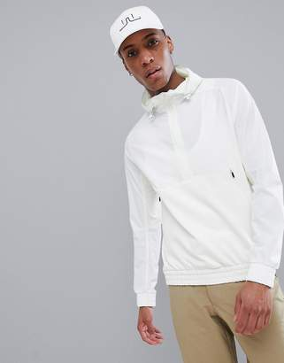 J. Lindeberg Golf jeff mid-length tech fleece jacket in white