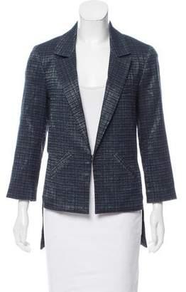 Marissa Webb Tweed High-Low Blazer
