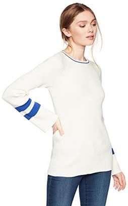 Cable Stitch Women's Raglan Varsity Sweater
