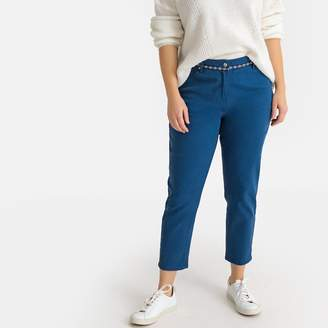 La Redoute COLLECTIONS PLUS Cotton Mom Jeans with High Waist and Slim Belt, Length 26.5""