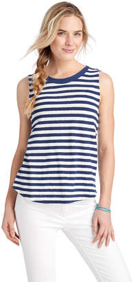 Vineyard Vines Striped Linen Blend Tank