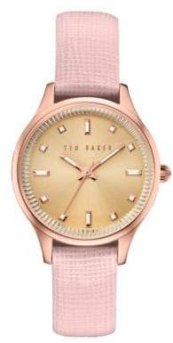 Ted Baker Zoe Textured Leather Band Watch