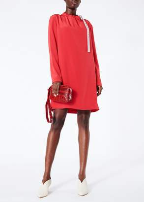 Tibi Silk Color Block Shift Dress