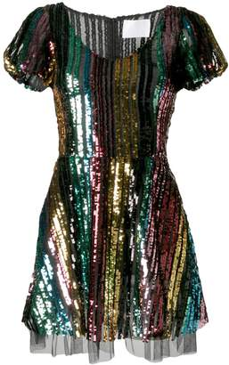 Athena Procopiou rainbow sequin dress