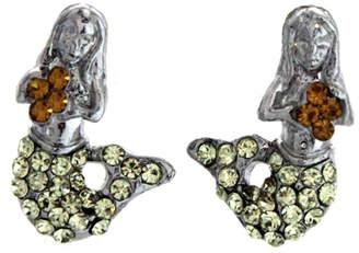 Ralph Lauren Spencer Mermaid Earrings Citrine