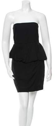 Acne Studios Strapless Peplum Dress