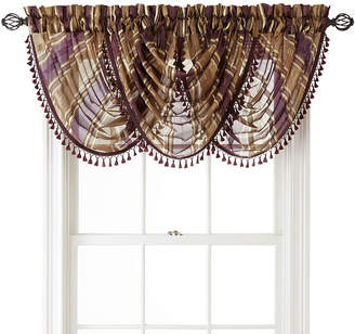 Royal Velvet Kingston Stripe Rod-Pocket Waterfall Valance