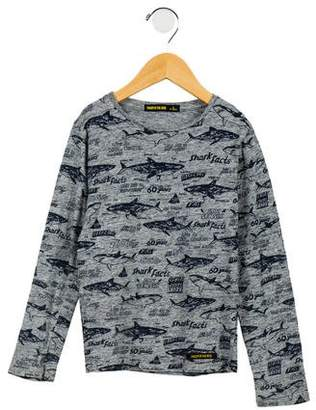 Finger In The Nose Boys' Printed Long Sleeve Shirt
