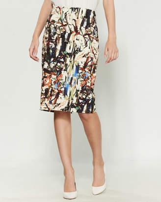 Samantha Sung Chloe Spirit Print Skirt