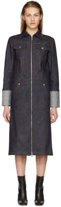 Helmut Lang Indigo Raw Denim Trench Coat