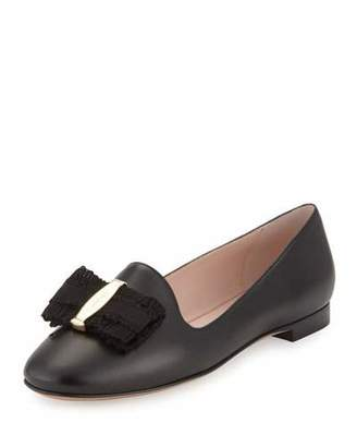 Salvatore Ferragamo Elisabella Bow Leather Loafer, Nero $550 thestylecure.com
