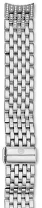 Michele 16mm Serein Stainless Steel Diamond 7-Link Taper Bracelet