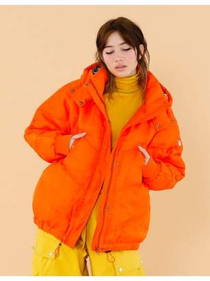 Little sunny bite Organdy covered down jacket
