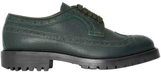 Burberry Brogue Detail Grainy Leather Derby Shoes