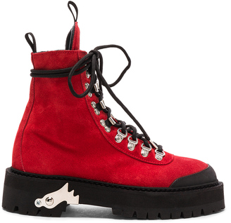 OFF-WHITE for FWRD Suede Hiking Boots $940 thestylecure.com