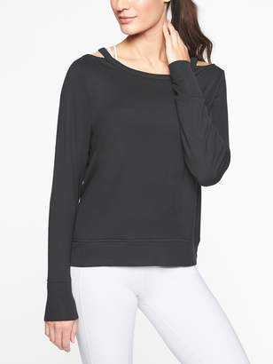 Athleta Cutout Neck Sweatshirt