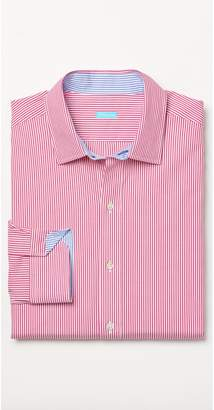 J.Mclaughlin Clinton Modern Fit Shirt in Hairline Stripes