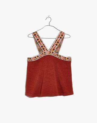 Madewell Embroidered Swing Sweater Tank