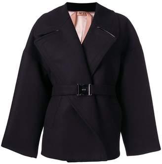 No.21 oversized belted coat
