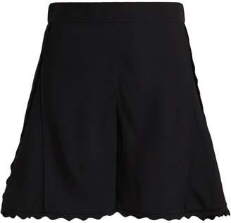 Chloé Scallop-edge cady shorts