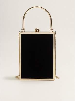 MANGO Square Cross Body Bag - Black