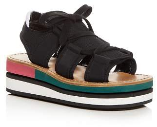 Marni Color-Block Platform Wedge Sandals