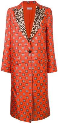 Alberto Biani contrast collar printed coat