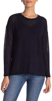 Catherine Malandrino Semi-Sheer Dolman Sweater (Petite)
