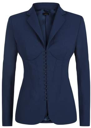 La Perla Essentials Bi-Stretch Cool-Wool Corset Jacket